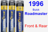 Front & Rear Wiper Blade Pack for 1996 Buick Roadmaster - Assurance
