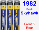 Front & Rear Wiper Blade Pack for 1982 Buick Skyhawk - Assurance