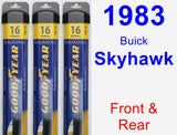 Front & Rear Wiper Blade Pack for 1983 Buick Skyhawk - Assurance