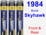 Front & Rear Wiper Blade Pack for 1984 Buick Skyhawk - Assurance