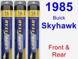 Front & Rear Wiper Blade Pack for 1985 Buick Skyhawk - Assurance