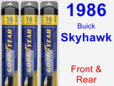 Front & Rear Wiper Blade Pack for 1986 Buick Skyhawk - Assurance