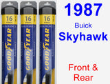 Front & Rear Wiper Blade Pack for 1987 Buick Skyhawk - Assurance