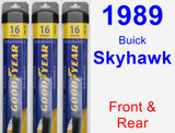 Front & Rear Wiper Blade Pack for 1989 Buick Skyhawk - Assurance