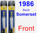 Front Wiper Blade Pack for 1986 Buick Somerset - Assurance