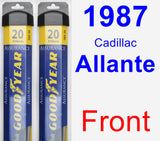 Front Wiper Blade Pack for 1987 Cadillac Allante - Assurance