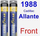 Front Wiper Blade Pack for 1988 Cadillac Allante - Assurance