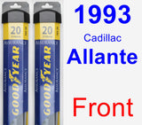 Front Wiper Blade Pack for 1993 Cadillac Allante - Assurance