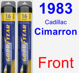 Front Wiper Blade Pack for 1983 Cadillac Cimarron - Assurance