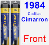 Front Wiper Blade Pack for 1984 Cadillac Cimarron - Assurance