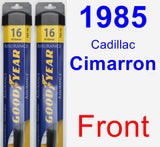 Front Wiper Blade Pack for 1985 Cadillac Cimarron - Assurance
