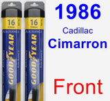Front Wiper Blade Pack for 1986 Cadillac Cimarron - Assurance