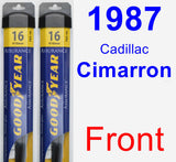 Front Wiper Blade Pack for 1987 Cadillac Cimarron - Assurance