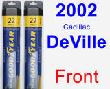 Front Wiper Blade Pack for 2002 Cadillac DeVille - Assurance