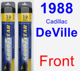 Front Wiper Blade Pack for 1988 Cadillac DeVille - Assurance
