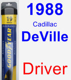 Driver Wiper Blade for 1988 Cadillac DeVille - Assurance
