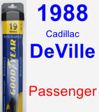 Passenger Wiper Blade for 1988 Cadillac DeVille - Assurance