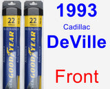Front Wiper Blade Pack for 1993 Cadillac DeVille - Assurance