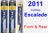 Front & Rear Wiper Blade Pack for 2011 Cadillac Escalade - Assurance