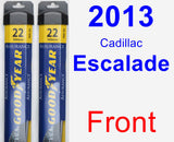 Front Wiper Blade Pack for 2013 Cadillac Escalade - Assurance