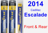 Front & Rear Wiper Blade Pack for 2014 Cadillac Escalade - Assurance
