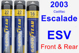 Front & Rear Wiper Blade Pack for 2003 Cadillac Escalade ESV - Assurance