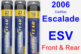 Front & Rear Wiper Blade Pack for 2006 Cadillac Escalade ESV - Assurance