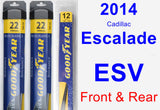 Front & Rear Wiper Blade Pack for 2014 Cadillac Escalade ESV - Assurance