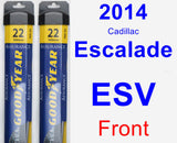 Front Wiper Blade Pack for 2014 Cadillac Escalade ESV - Assurance