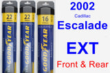 Front & Rear Wiper Blade Pack for 2002 Cadillac Escalade EXT - Assurance