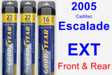 Front & Rear Wiper Blade Pack for 2005 Cadillac Escalade EXT - Assurance