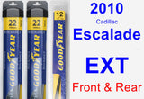 Front & Rear Wiper Blade Pack for 2010 Cadillac Escalade EXT - Assurance