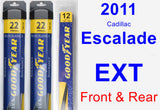 Front & Rear Wiper Blade Pack for 2011 Cadillac Escalade EXT - Assurance