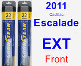 Front Wiper Blade Pack for 2011 Cadillac Escalade EXT - Assurance