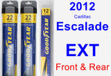 Front & Rear Wiper Blade Pack for 2012 Cadillac Escalade EXT - Assurance
