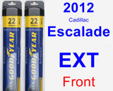 Front Wiper Blade Pack for 2012 Cadillac Escalade EXT - Assurance
