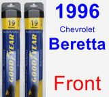 Front Wiper Blade Pack for 1996 Chevrolet Beretta - Assurance