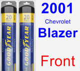 Front Wiper Blade Pack for 2001 Chevrolet Blazer - Assurance