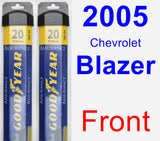 Front Wiper Blade Pack for 2005 Chevrolet Blazer - Assurance