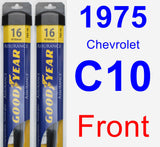 Front Wiper Blade Pack for 1975 Chevrolet C10 - Assurance