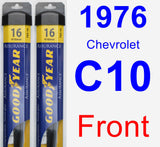 Front Wiper Blade Pack for 1976 Chevrolet C10 - Assurance