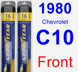 Front Wiper Blade Pack for 1980 Chevrolet C10 - Assurance