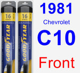 Front Wiper Blade Pack for 1981 Chevrolet C10 - Assurance