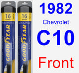 Front Wiper Blade Pack for 1982 Chevrolet C10 - Assurance