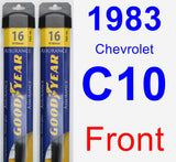 Front Wiper Blade Pack for 1983 Chevrolet C10 - Assurance