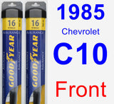 Front Wiper Blade Pack for 1985 Chevrolet C10 - Assurance