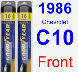 Front Wiper Blade Pack for 1986 Chevrolet C10 - Assurance