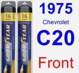 Front Wiper Blade Pack for 1975 Chevrolet C20 - Assurance