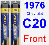 Front Wiper Blade Pack for 1976 Chevrolet C20 - Assurance