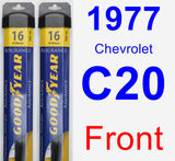 Front Wiper Blade Pack for 1977 Chevrolet C20 - Assurance